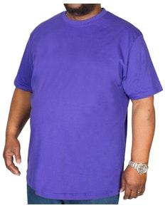 Bigdude Klassisches T-Shirt mit Rundhalsausschnitt Violett