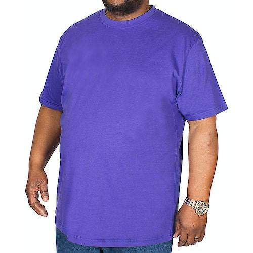 Bigdude Plain Crew Neck T-Shirt Violet