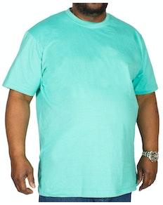 Bigdude Plain Crew Neck T-Shirt Turquoise