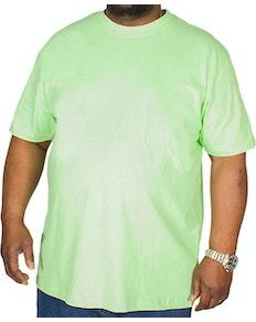 Bigdude Klassisches T-Shirt mit Rundhalsausschnitt Limonengrün