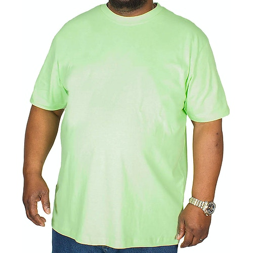 Bigdude Plain Crew Neck T-Shirt Lime Green