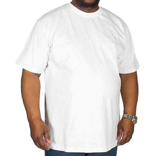 Bigdude Plain Crew Neck T-Shirt White