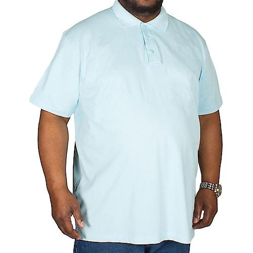 Bigdude Poloshirt Hellblau Tall Fit