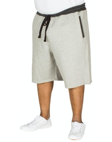 Bigdude Contrast Sweat Shorts Grey Marl
