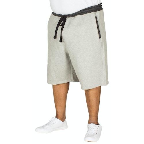 Bigdude Contrast Sweat Shorts Grey Marl