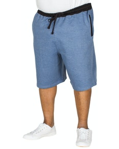 Bigdude Contrast Sweat Shorts Denim Marl