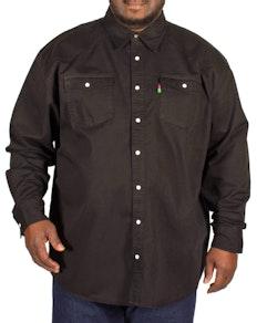 Duke Western Style Black Denim Shirt