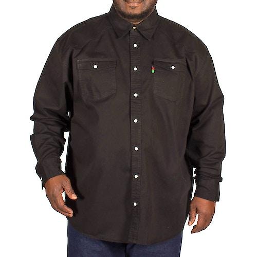 Duke Western Style Schwarzes Jeanshemd