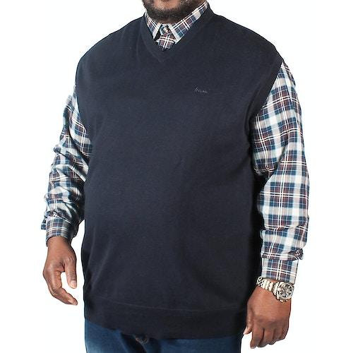 KAM V-Neck Sleeveless Knitted Pullover Navy