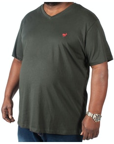 Bigdude Signature V-Neck T-Shirt Black Tall