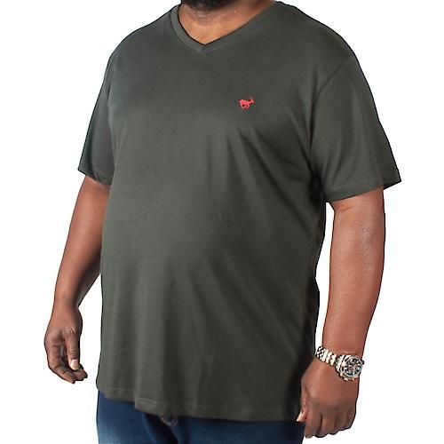 Bigdude Signature V-Neck T-Shirt Black Tall