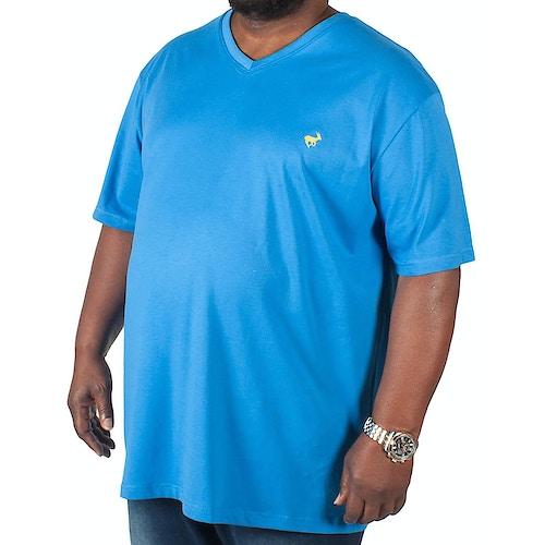 Bigdude Signature V-Neck T-Shirt Blue