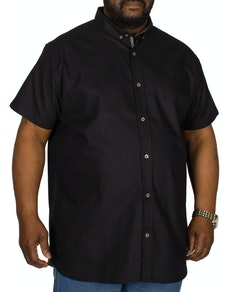 D555 Kevin Short Sleeve Oxford Shirt Black
