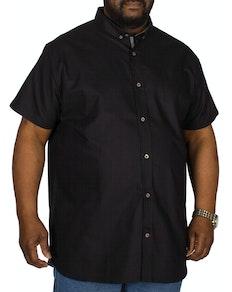 D555 Kevin Short Sleeve Oxford Shirt Black