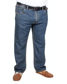 Bigdude Elasticated Waist Jeans Tint Wash