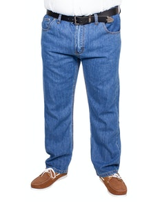 Bigdude Elasticated Waist Jeans Mid Wash