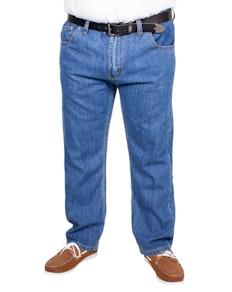 Bigdude Jeans mit elastischem Bund Mid Wash