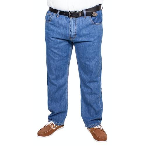 Bigdude Elasticated Waist Jeans Mid Wash