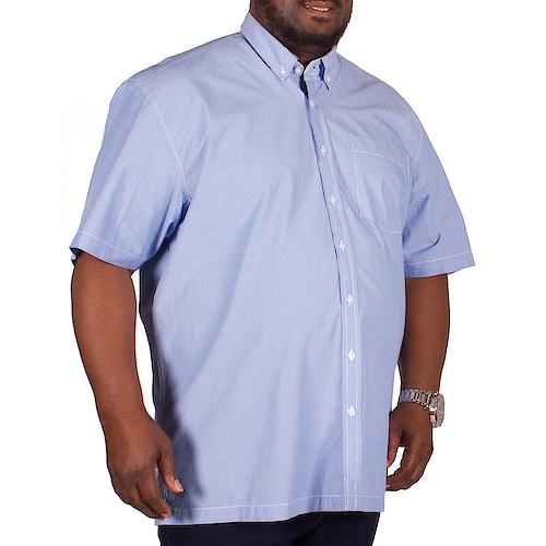 Bigdude Short Sleeve Blue Fine Stripe Shirt