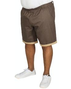 Bigdude Chino Shorts mit elastischem Bund Grau