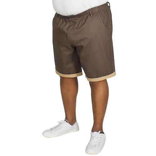 Bigdude Elasticated Waist Chino Shorts Grey