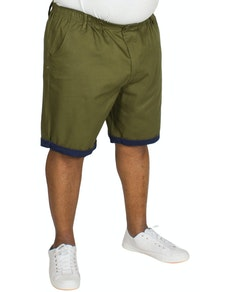 Bigdude Chino Shorts mit elastischem Bund Khaki