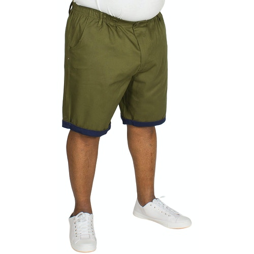 Bigdude Elasticated Waist Chino Shorts Khaki