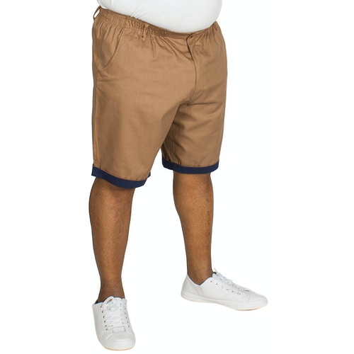Bigdude Elasticated Waist Chino Shorts Brown
