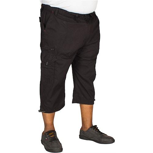 Espionage 3/4 Length Cargo Shorts Black