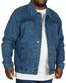 Bigdude klassische Jeansjacke Blau