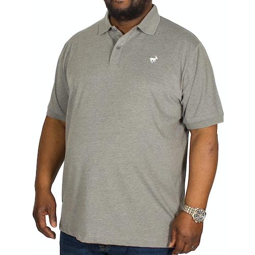 Bigdude meliertes Jersey Poloshirt Grau