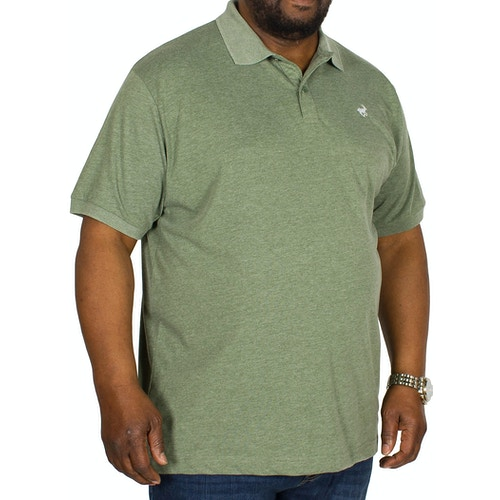 Bigdude Jersey Marl Polo Shirt Green