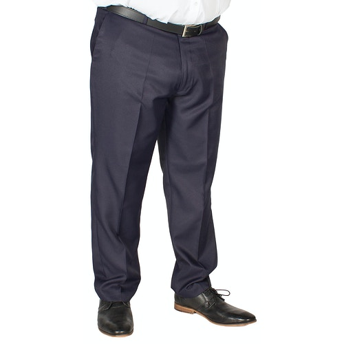 Carabou Poly Twill Classic Trousers Navy
