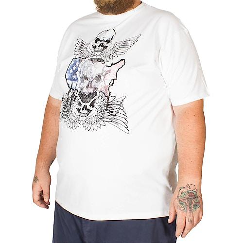 Metaphor Skull Wings Print T-Shirt White