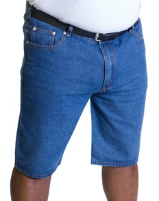 Bigdude Lightweight Denim Shorts Mid Blue