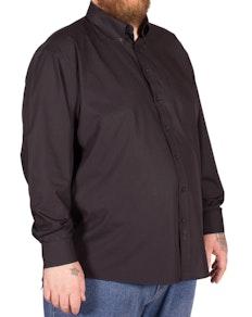 Espionage klassisches Hemd mit Rundhalsausschnitt Schwarz