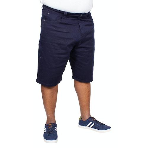 KAM Alba Stretch Denim Shorts Navy