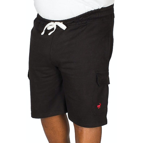 Bigdude Fleece Cargo Shorts Black