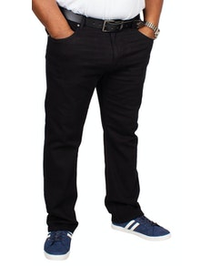Bigdude Stretch Jeans Schwarz Tall Fit