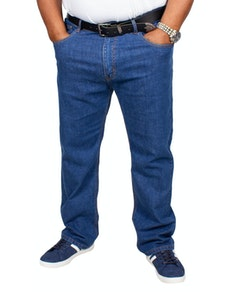 Bigdude Stretch Jeans Mid Wash Tall Fit