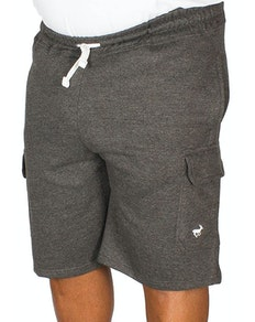 Bigdude Fleece Cargo Shorts Charcoal