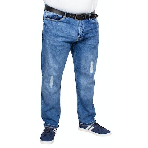 D555 Ripped Stretch Jeans Boxwell Stonewash