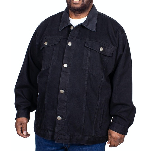 KAM Western Denim Jacket Black