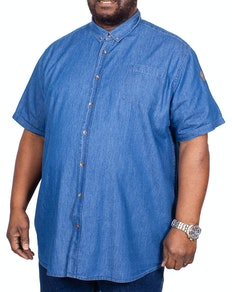 D555 Arnold Denim Short Sleeve Shirt Blue