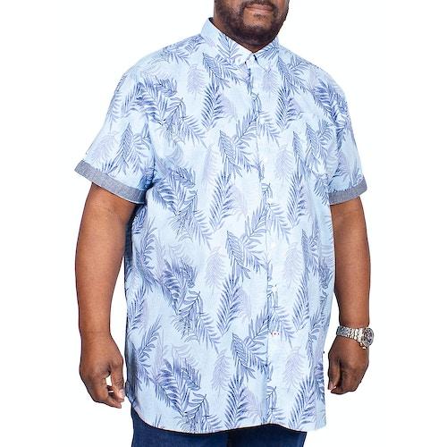 D555 Kurzarmhemd Santana Blau