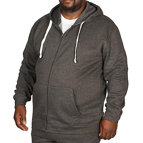 Bigdude Essentials Kapuzenjacke Grau Tall Fit