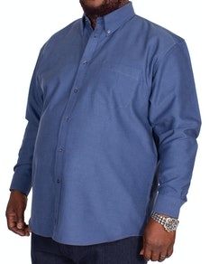 KAM Long Sleeve Oxford Shirt Navy