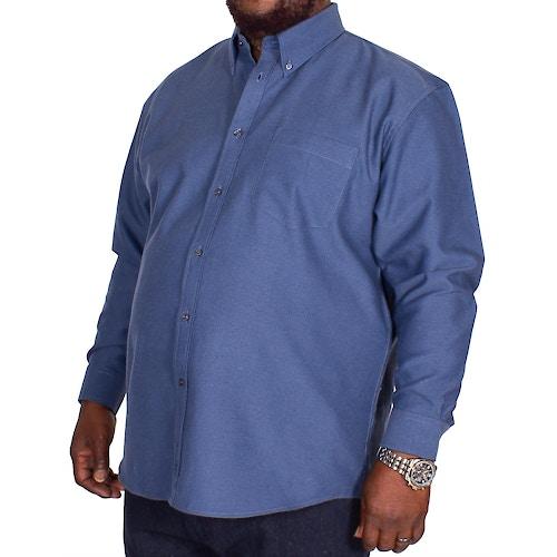 KAM Long Sleeve Oxford Shirt Navy