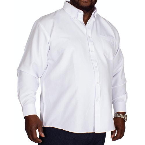 KAM Long Sleeve Oxford Shirt White