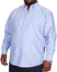 KAM Long Sleeve Oxford Shirt Denim